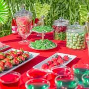 Candy Bar Geburtstag Rot / Grün